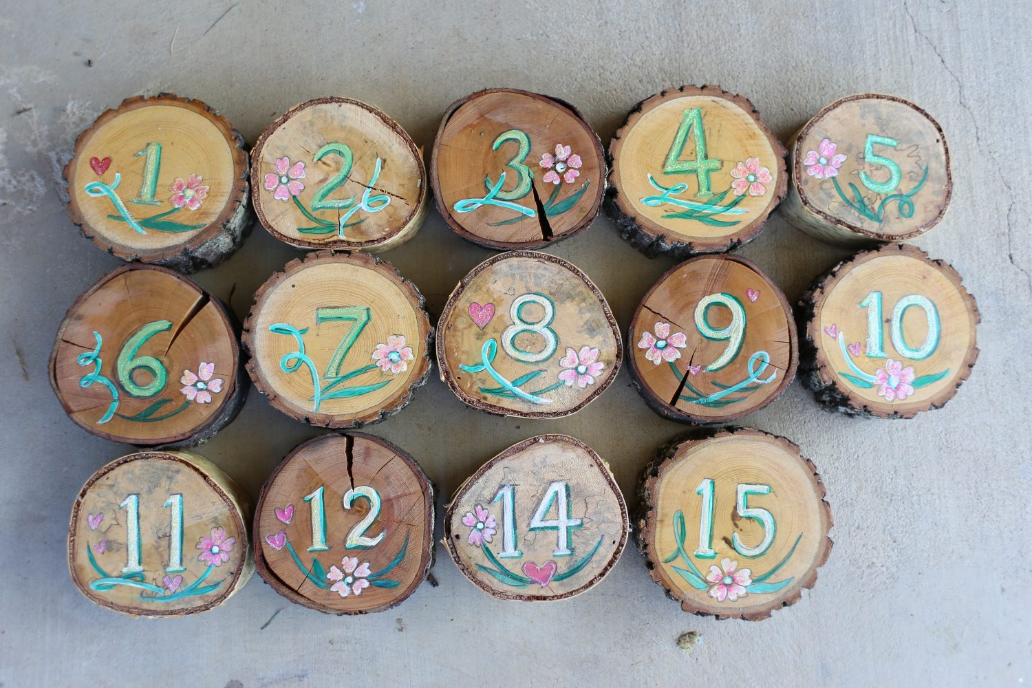 Decor-Decorative-Tree-Cookie-Table-Numbers