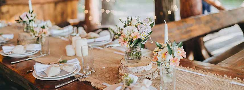 table & tent decor